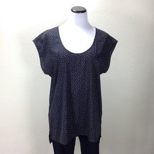 14th & Union Black & White Short Sleeve Long Top
